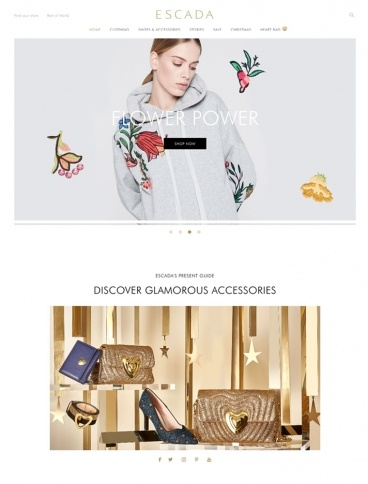 eCommerce website: Escada