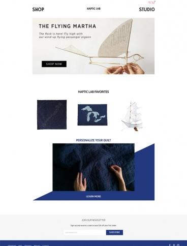 eCommerce website: Haptic Lab