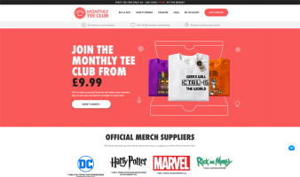 eCommerce website: Monthly Tee Club