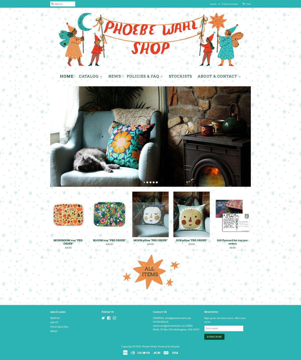 eCommerce website: Phoebe Wahl