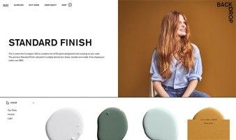 eCommerce website: Backdrop