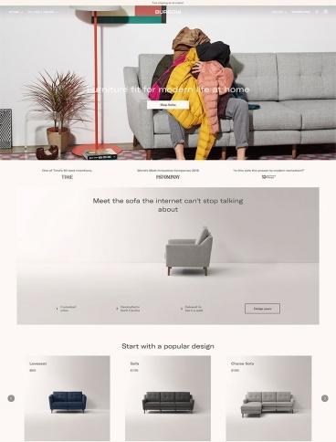 eCommerce website: Burrow