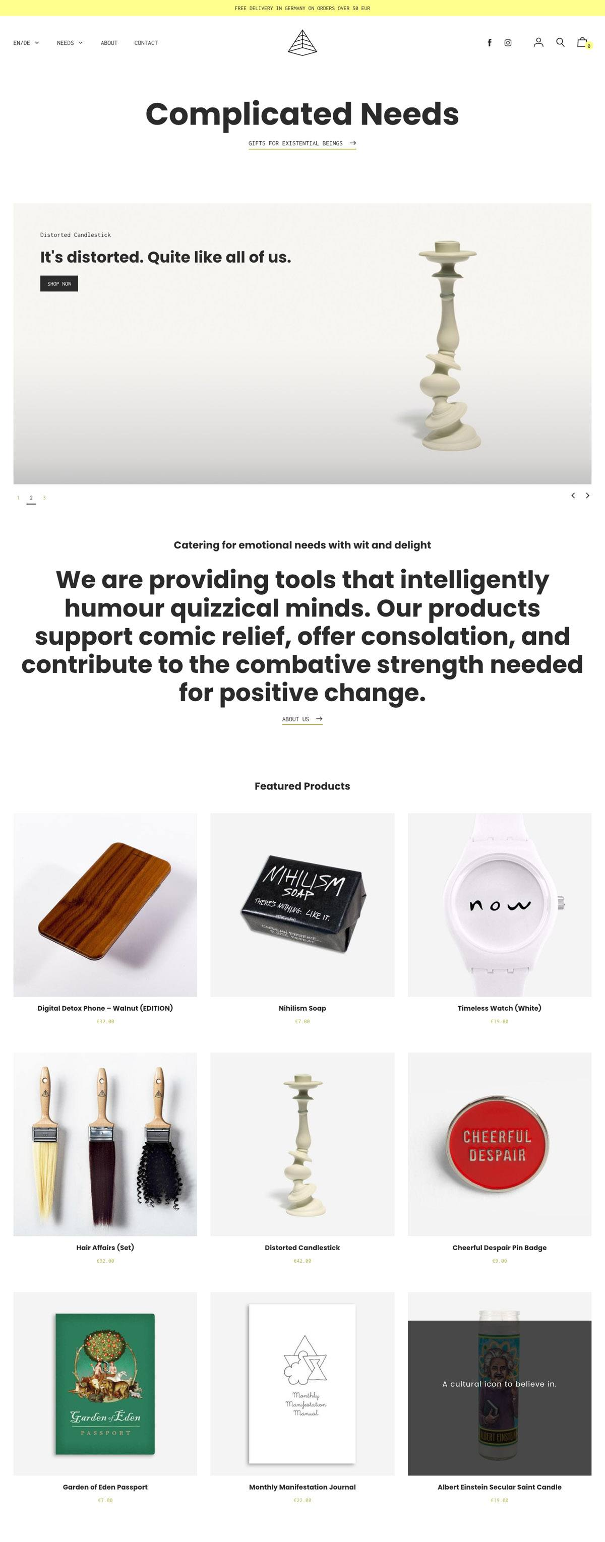 eCommerce website: Complicated Needs