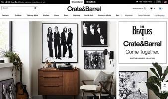 eCommerce website: Crate and Barrel