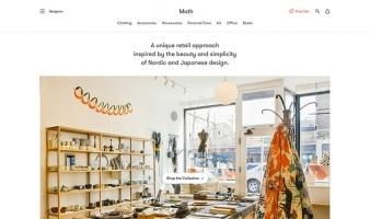 eCommerce website: Moth