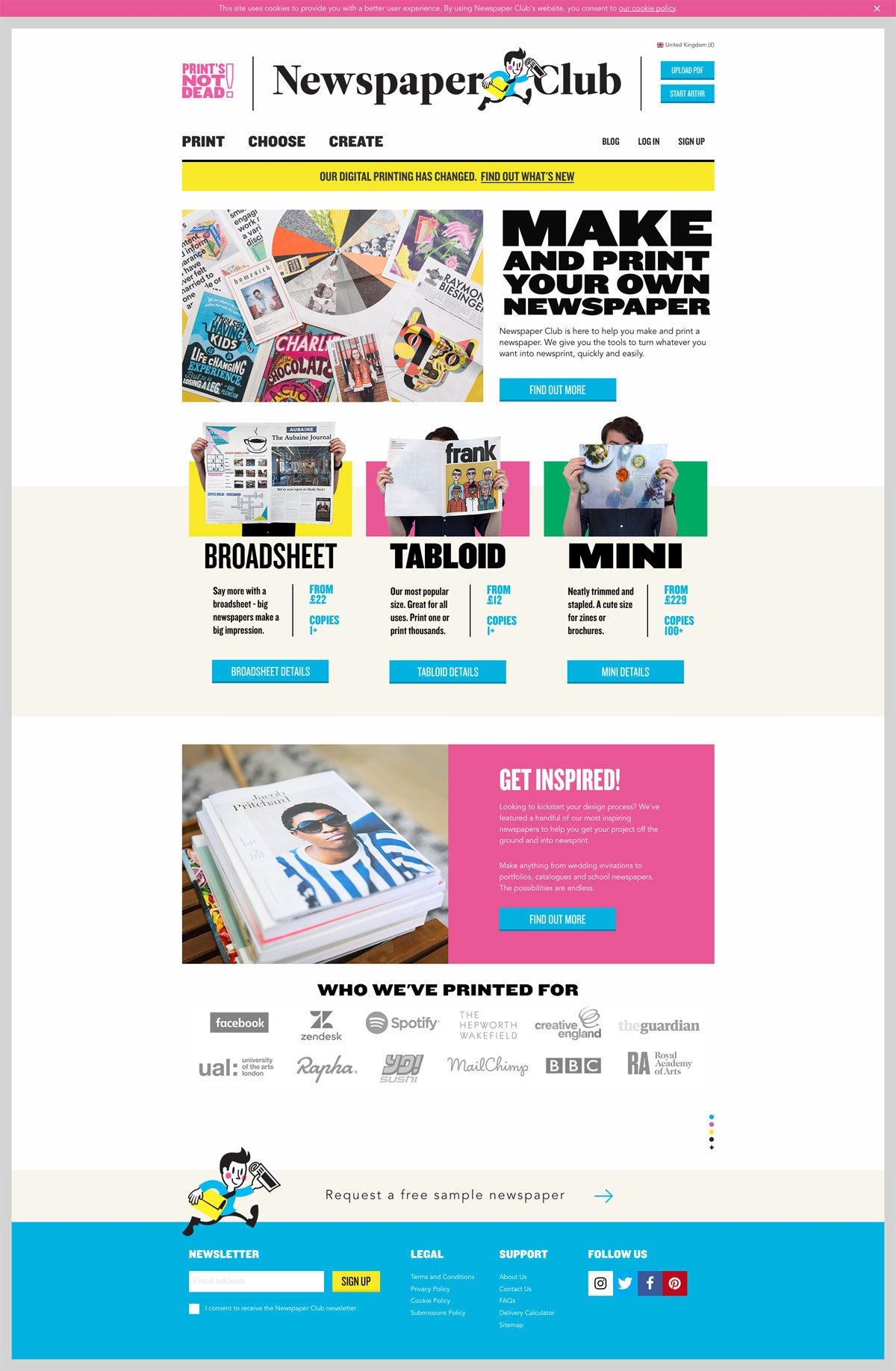 eCommerce website: Newspaper Club