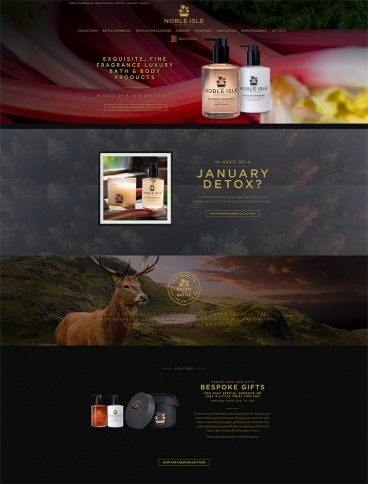eCommerce website: Noble Isle