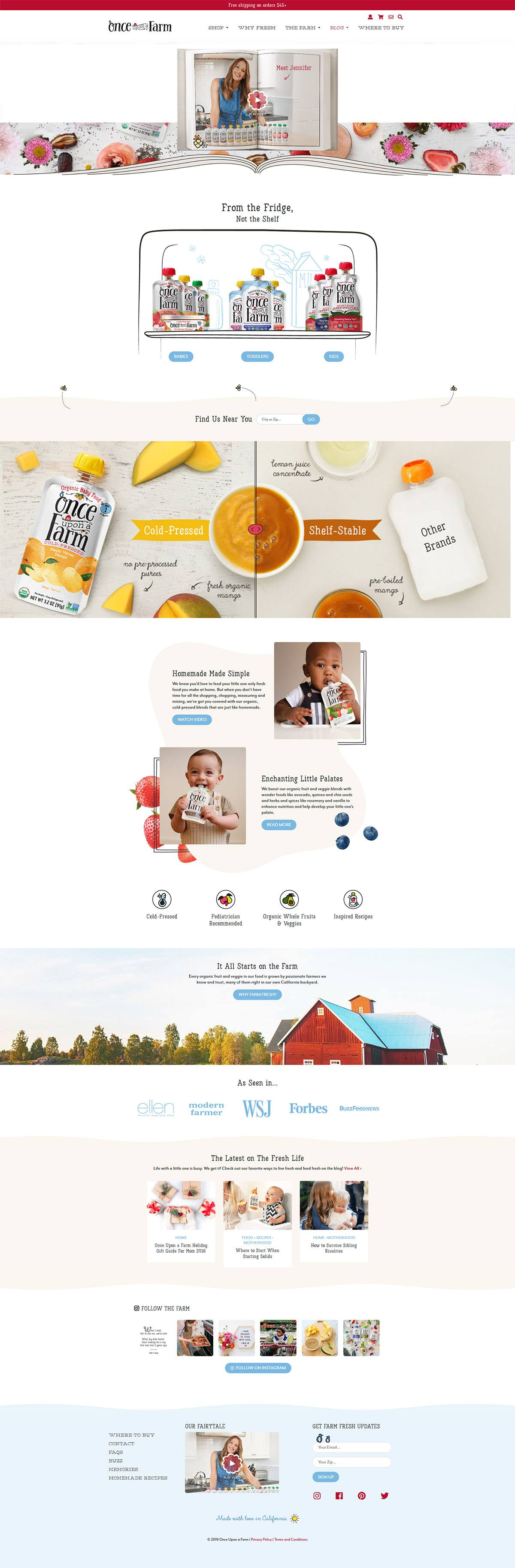 eCommerce website: Once Upon a Farm
