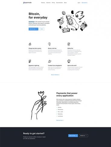 eCommerce website: OpenNode