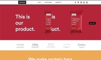 eCommerce website: RXBAR