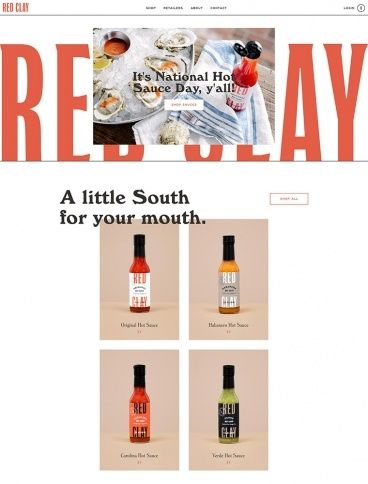 eCommerce website: Red Clay