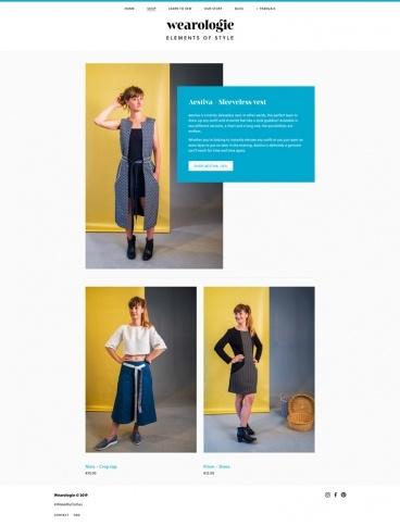 eCommerce website: Wearologie