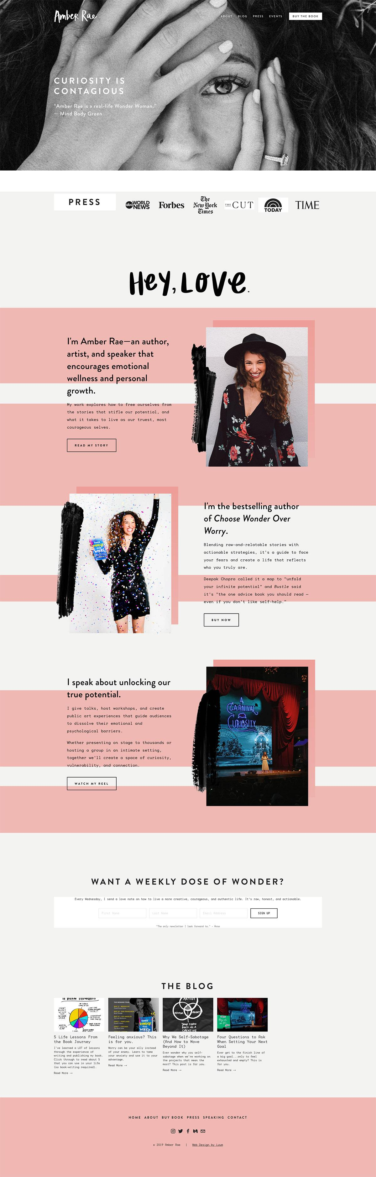 eCommerce website: Amber Rae
