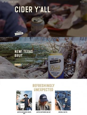 eCommerce website: Austin Eastciders