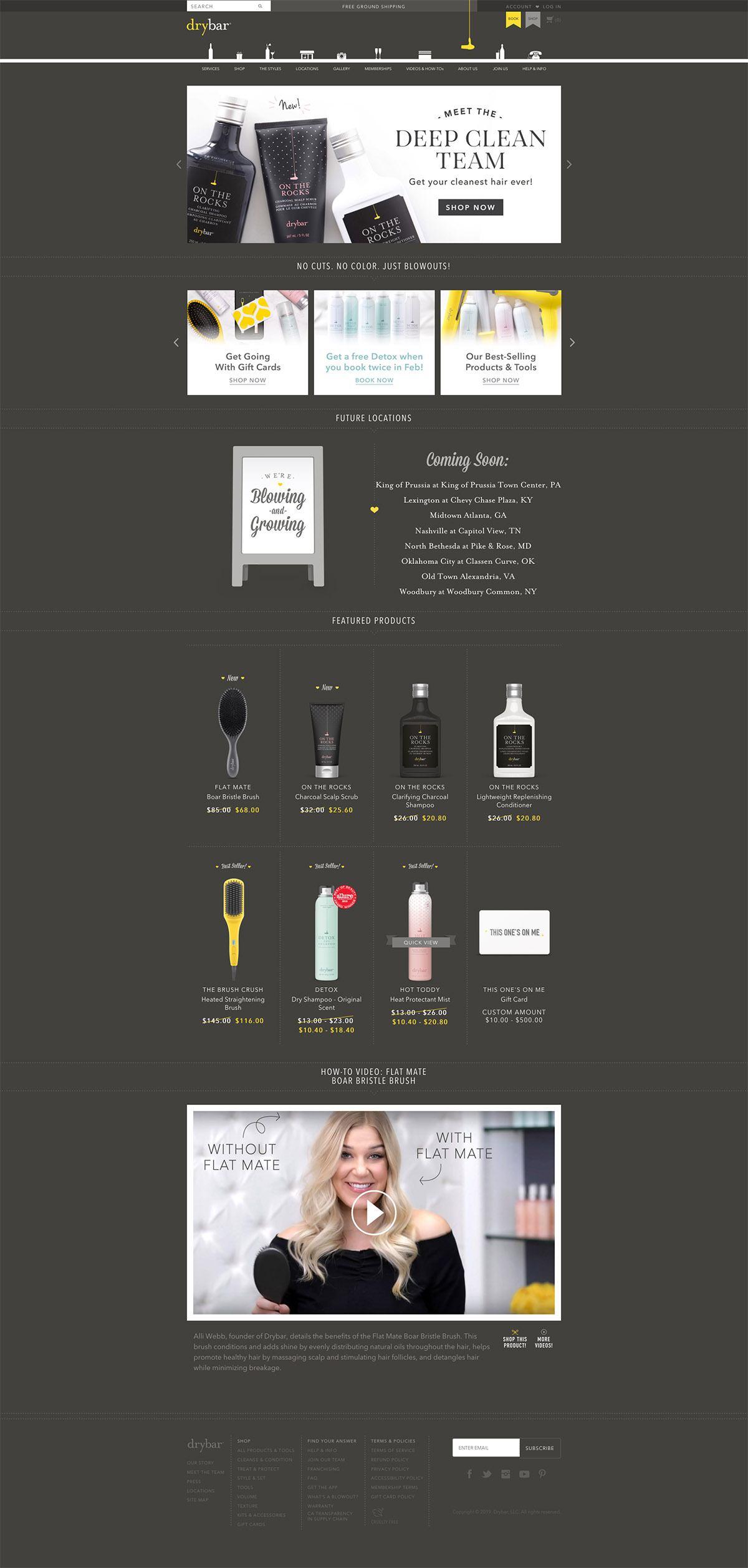 eCommerce website: Drybar
