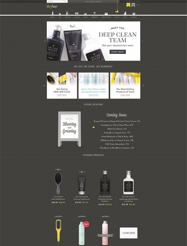 eCommerce website: Drybar