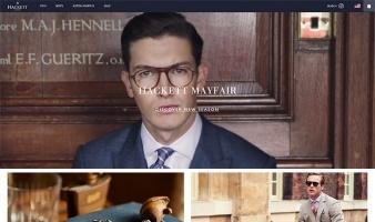 eCommerce website: Hackett