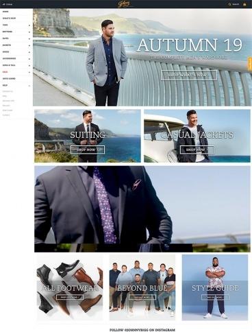 eCommerce website: Johnny Bigg