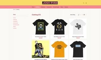 eCommerce website: Josh Ryan