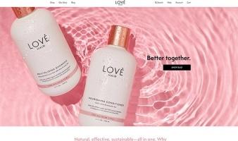 eCommerce website: Love Hair