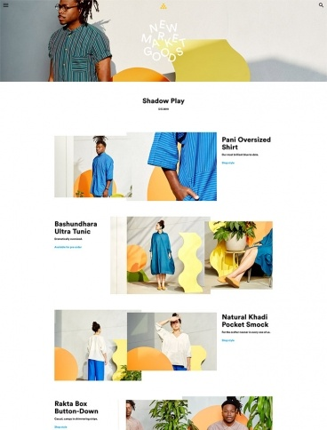 eCommerce website: New Market Goods