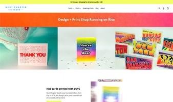 eCommerce website: Next Chapter Studio