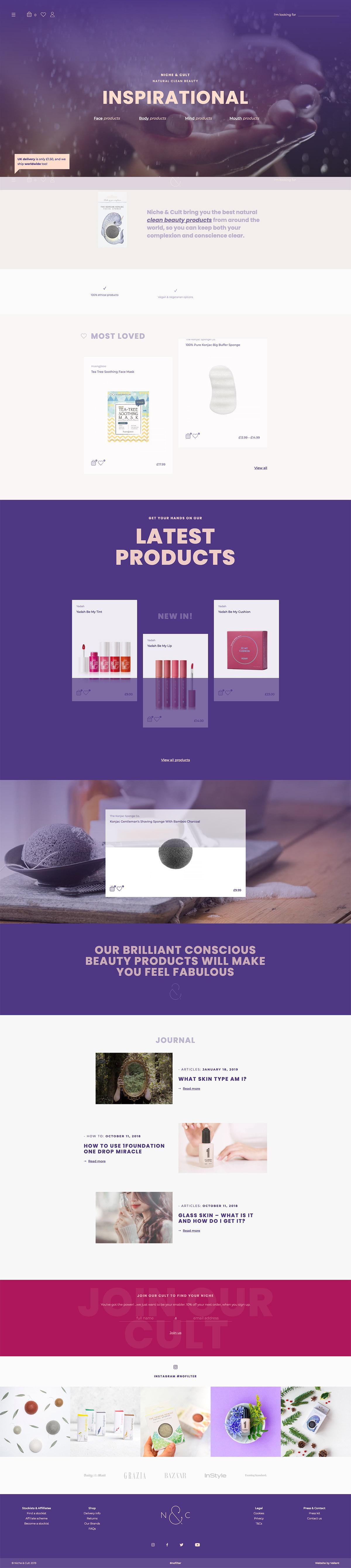 eCommerce website: Niche & Cult