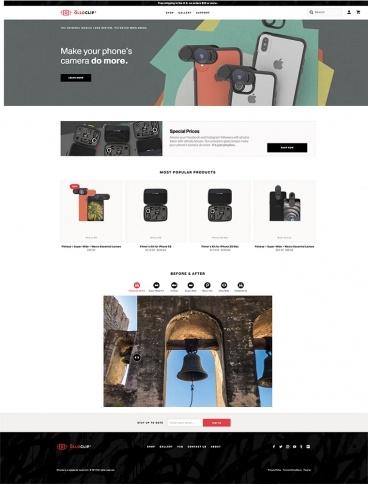 eCommerce website: Olloclip
