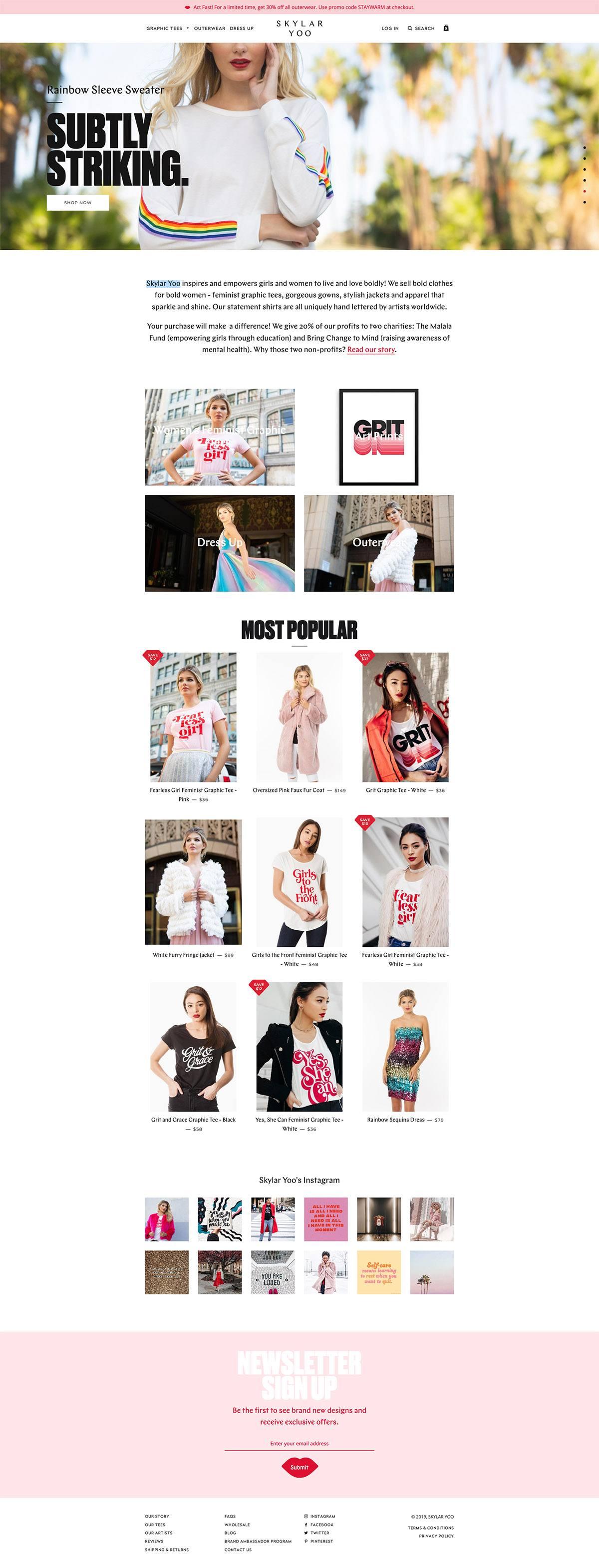 eCommerce website: Skylar Yoo
