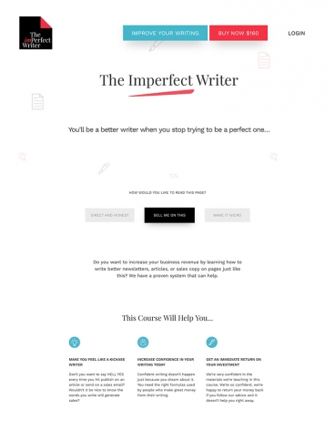 eCommerce website: The Imperfect Writer