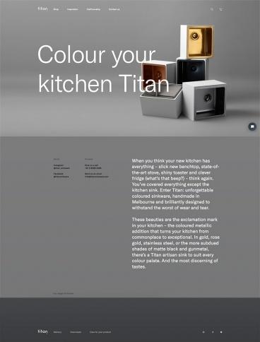 eCommerce website: Titan Sinkware