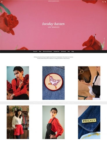 eCommerce website: Tuesday Bassen