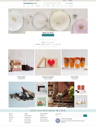 eCommerce website: UncommonGoods