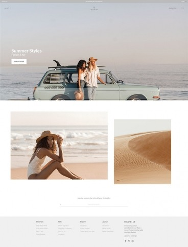 eCommerce website: Will + Bear
