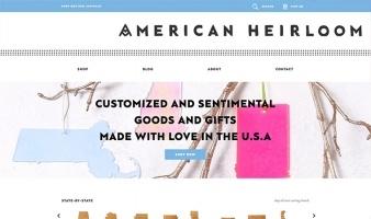 eCommerce website: AHeirloom