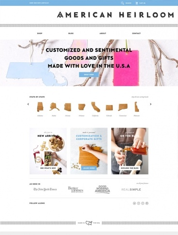 eCommerce website: AHeirloom