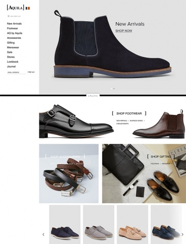 eCommerce website: Aquila