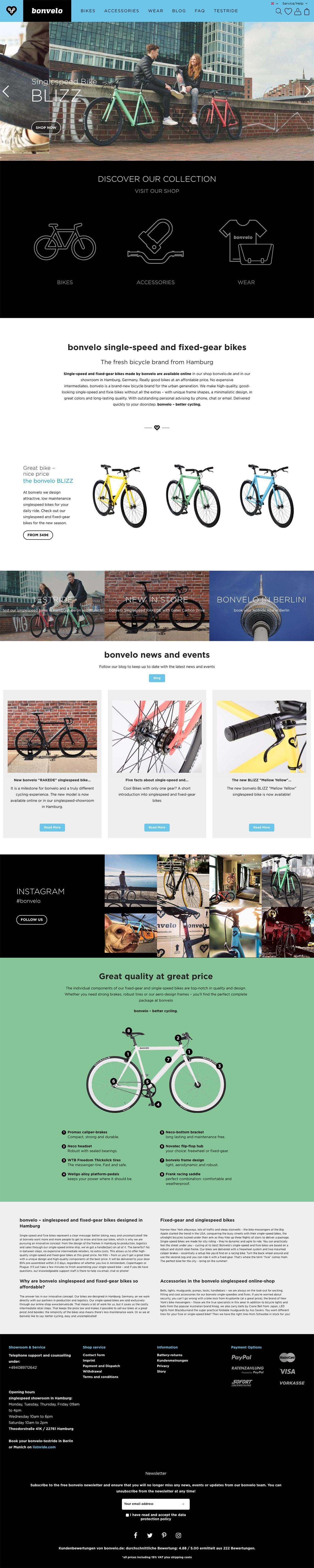eCommerce website: bonvelo