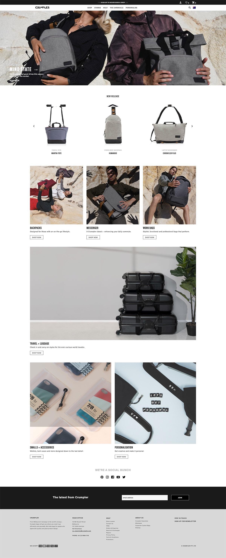 eCommerce website: Crumpler