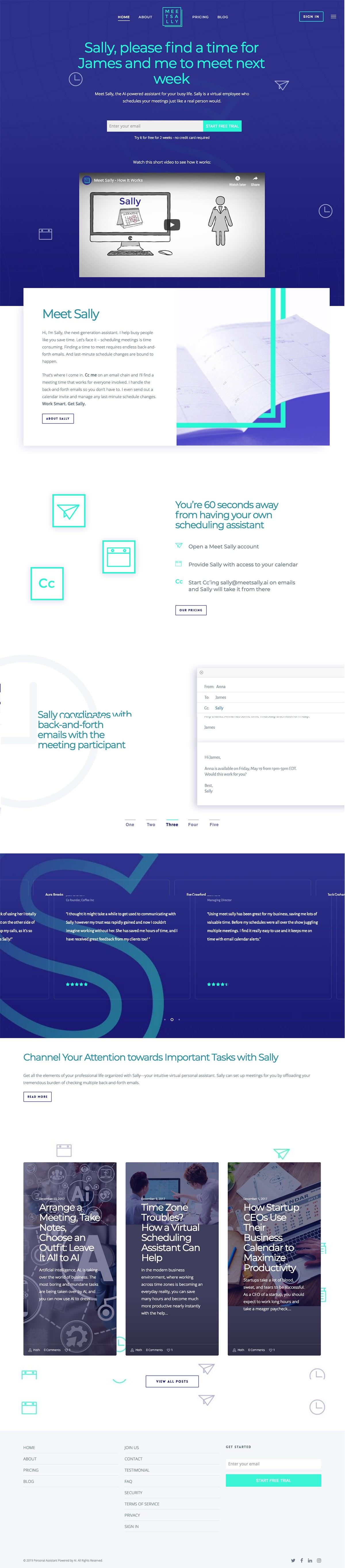 eCommerce website: Meet Sally