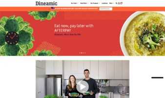 eCommerce website: Dineamic Food