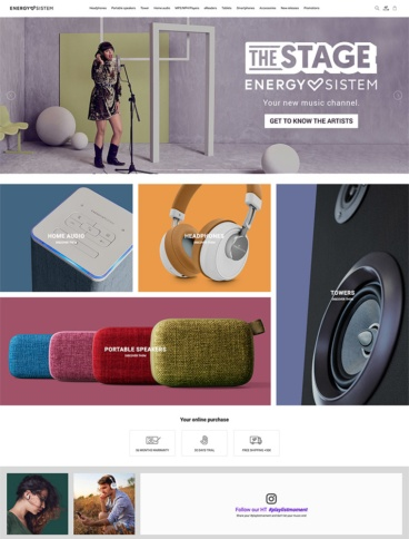 eCommerce website: Energy Sistem