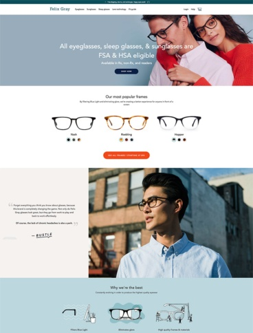 eCommerce website: Felix Gray