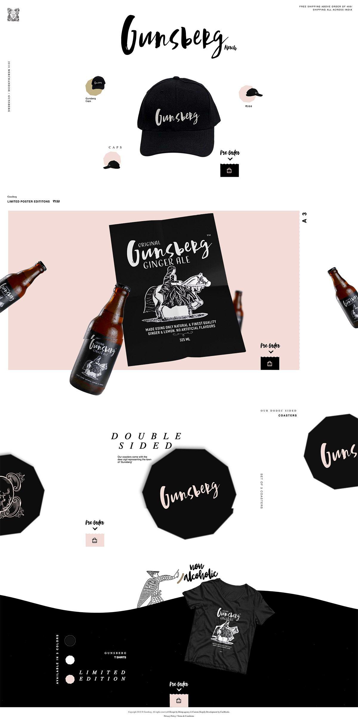 eCommerce website: Gunsberg Merch