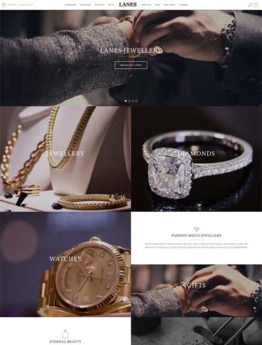 eCommerce website: Lanes Jewellery