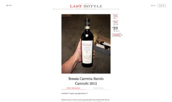eCommerce website: Last Bottle
