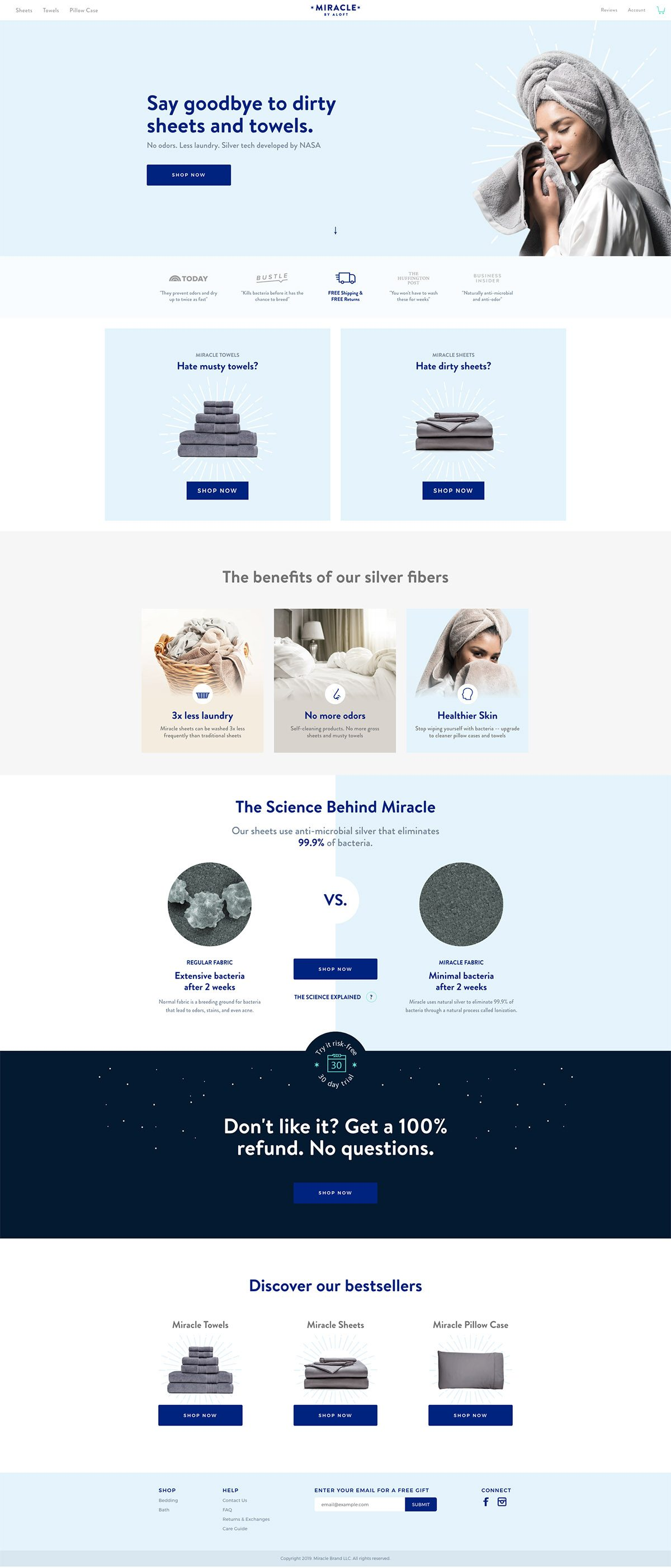 eCommerce website: Miracle