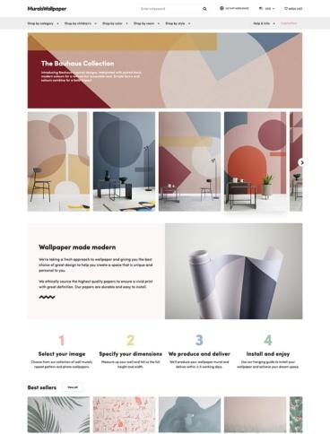 eCommerce website: Murals Wallpaper