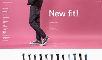eCommerce website: Nudie Jeans
