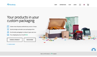 eCommerce website: Packhelp